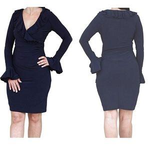 🆕️ LAUREN Ralph Lauren   Ruffle-Trim Sheath Dress